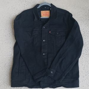 Mens Levi Strauss Button-down Black Jean Jacket